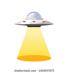Cartoon UFO vector isolated illustration