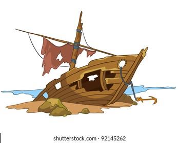 Sunk Ship Cartoon Images Stock Photos Vectors Shutterstock