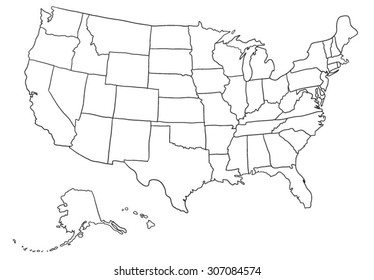 Cartoon USA map