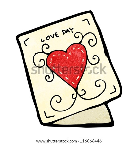 Cartoon Valentine Day Card Stock Vector Royalty Free 116066446