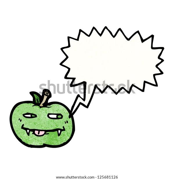 Cartoon Vampire Apple Stock Vector Royalty Free 125681126