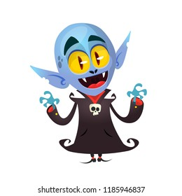 Cartoon vampire character. Design for carboard standee print or party decoration