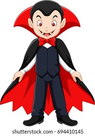 Cartoon vampire mascot