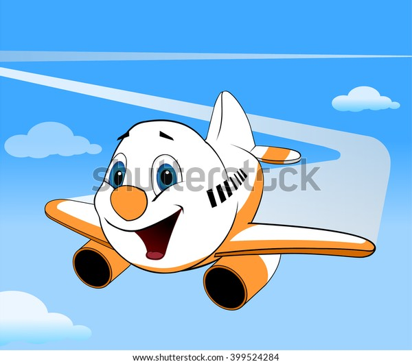 Cartoon Vector Airplane