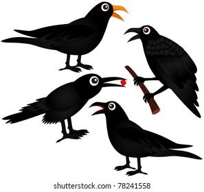 Crow Vector Cartoon Images Stock Photos Vectors Shutterstock