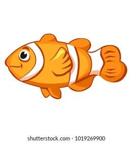 Cartoon vector clown fish