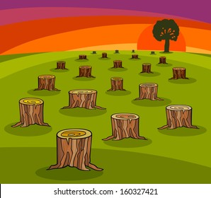 Cartoon Tree Cutting Images Stock Photos Vectors Shutterstock Rachel shows up fresh and energetic, helps us dig the hole to plant the tree. https www shutterstock com image vector cartoon vector ecological concept illustration trunks 160327421