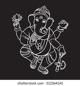 Ganesh Images Full Hd Black And White