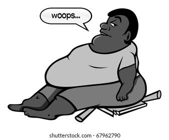Fat black ass clips