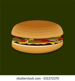 Cartoon Vector Hamburger