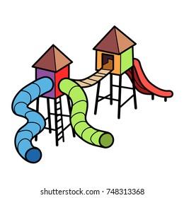Cartoon vector icon of a playground