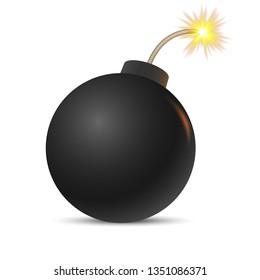Cartoon bombб Vector illustration