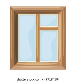 Cartoon Vector illustration of abstract windows on a white background. Cartoon style. Cartoon Housing Element window