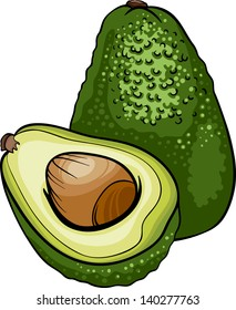 Cartoon Vector Illustration of Avocado Fruit Food Object