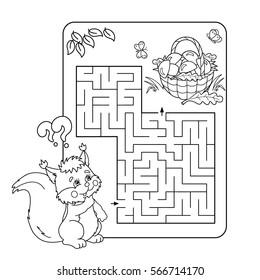 cartoon vector illustration education maze 260nw