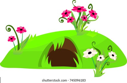 rabbit burrow images stock photos amp vectors shutterstock