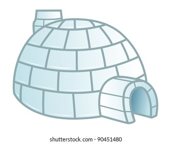 cartoon vector illustration of a igloo 2