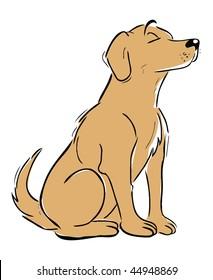 cartoon vector illustration Labrador retriever