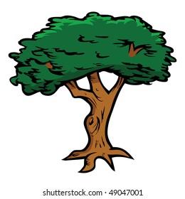 cartoon oak tree images stock photos vectors shutterstock rh shutterstock com cartoon pictures of oak trees Oak Tree Drawings