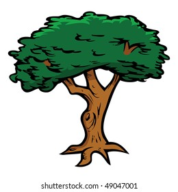 cartoon oak tree images stock photos vectors shutterstock rh shutterstock com cartoon oak tree leaf Animated Oak Tree