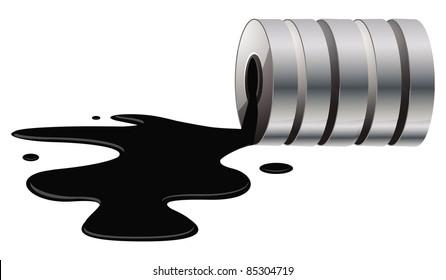 cartoon vector illustration of an oil spill