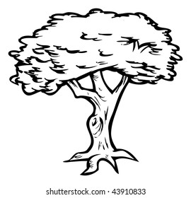 Cartoon Vector Illustration Outline Tree Stock Vector Royalty Free 43910833 ✓ free for commercial use ✓ high quality images. cartoon vector illustration outline