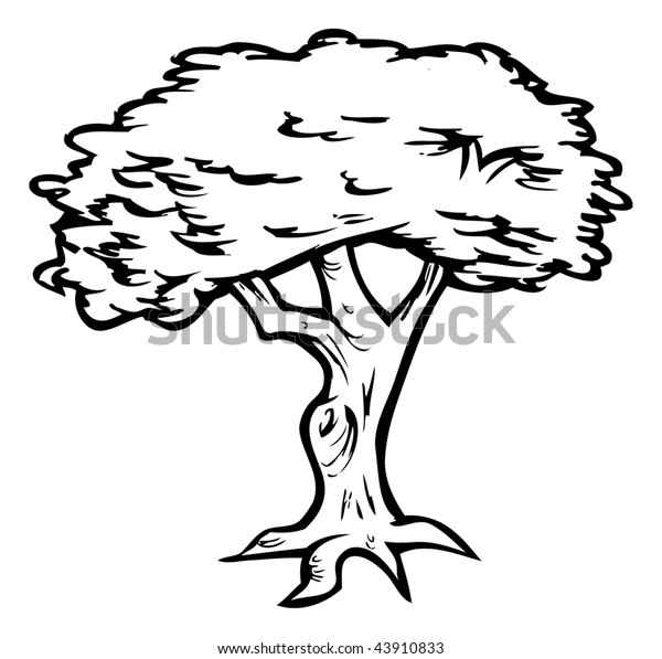 Cartoon Vector Illustration Outline Tree Stock Vector Royalty Free 43910833 3d cartoon tree models are ready for animation, games and vr / ar projects. https www shutterstock com image vector cartoon vector illustration outline tree 43910833