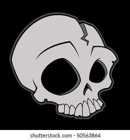 Cartoon vector illustration of a skull.