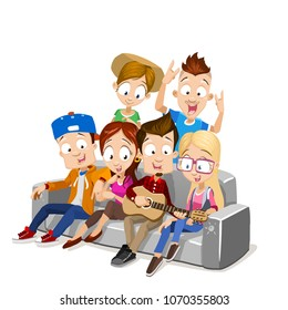 Woman Friends Couch Stock Vectors Images Vector Art Shutterstock