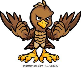 Cartoon Vector Image of an Eagle or Falcon Body