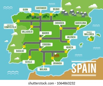Mountains Of Spain Map.Malaga Mountains Stock Vectors Images Vector Art Shutterstock