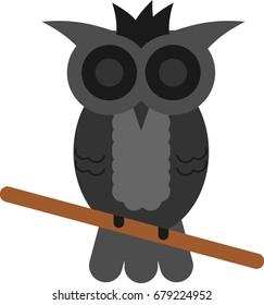 A cartoon vector owl