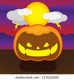 cartoon vector pumpkin halloween smile