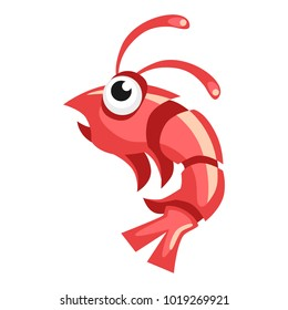 Cartoon vector shrimp