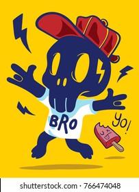 Cartoon Vector Skull