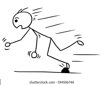 Image result for tripping over a line