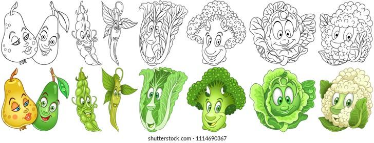 Imágenes, fotos de stock y vectores sobre Peas Coloring Book ...