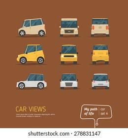 Cartoon views car set