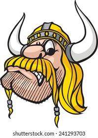 Cartoon Viking head. Vector file available. Viking Head