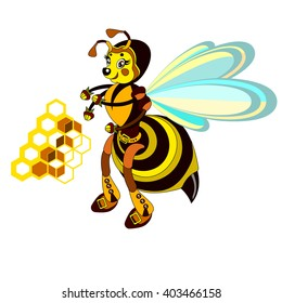 cartoon wasp on a white background