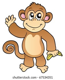 Monkey Clipart Images, Stock Photos & Vectors | Shutterstock