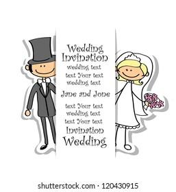 Cartoon wedding picture