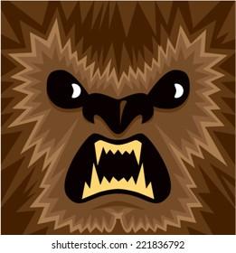 Cartoon Werewolf Face