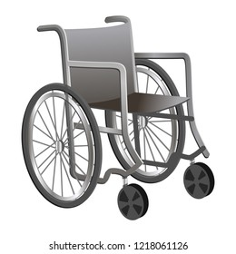 Cartoon wheel chair icon. Illustration of cartoon wheel chair vector icon for web design isolated on white background