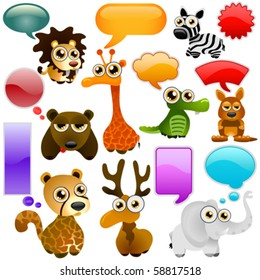 cartoon wild animals