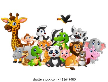 cartoon animals images  stock photos   vectors shutterstock Disney Happy Birthday Clip Art Happy Birthday Woman Clip Art Exercise