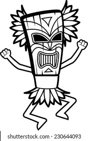 A cartoon witch doctor with a mask on.