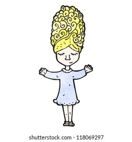 cartoon woman with big hair