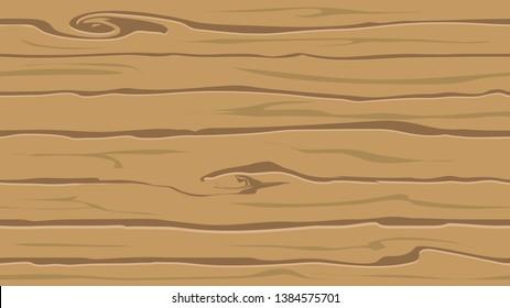 Cartoon wood texture seamless vector pattern background.