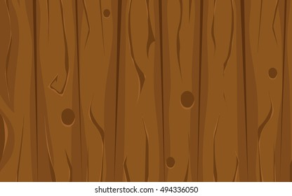 Cartoon wooden background. Vector texture.